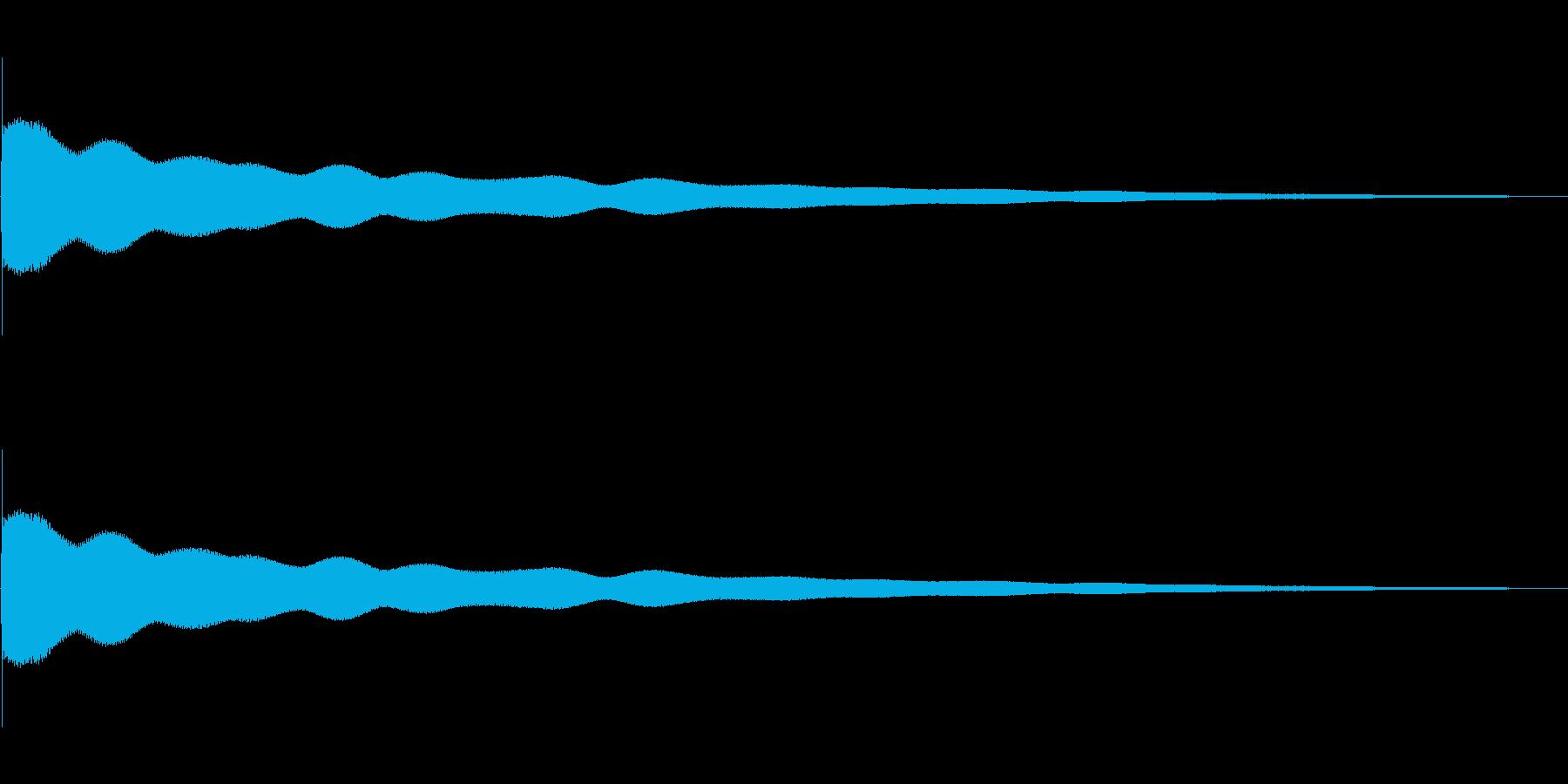 残念な音 チーーーーンの再生済みの波形