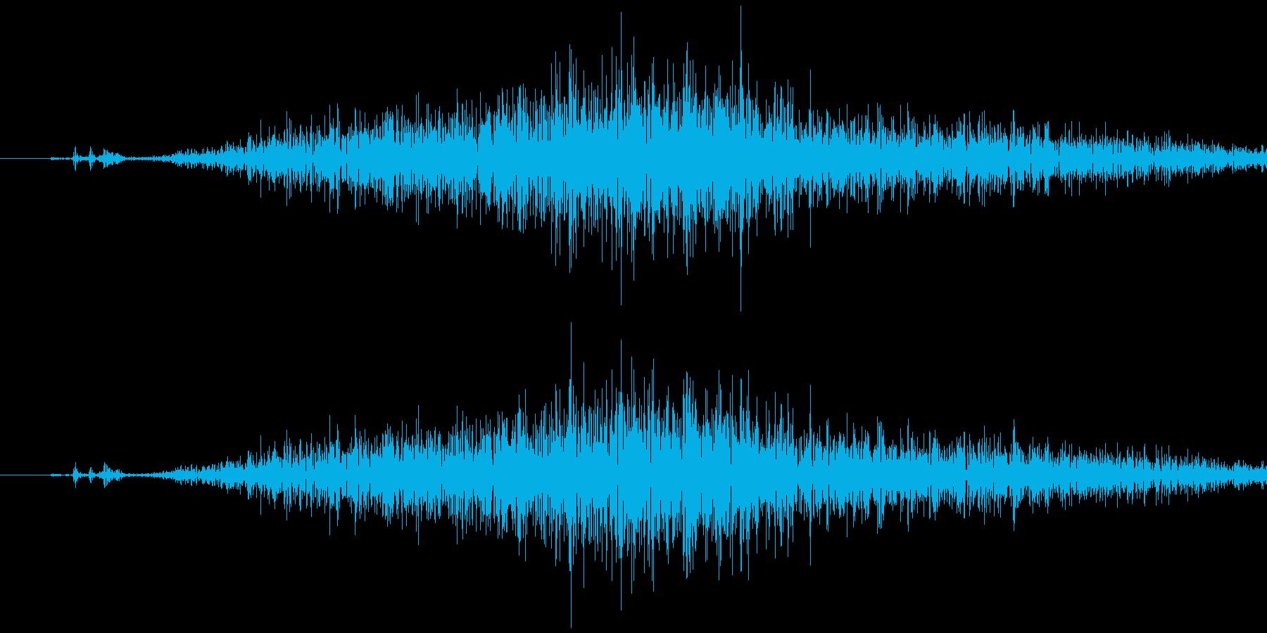 スプレー(霧吹き) シュッの再生済みの波形