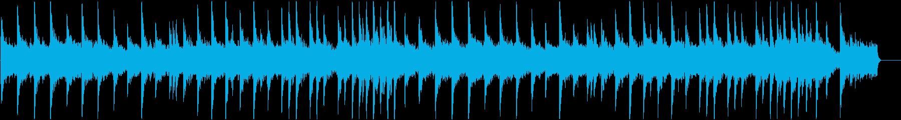 静まったかのような雰囲気のエレクトロニカの再生済みの波形