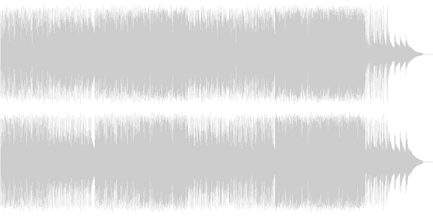 メローでデジタルなシンセバンドサウンドの未再生の波形