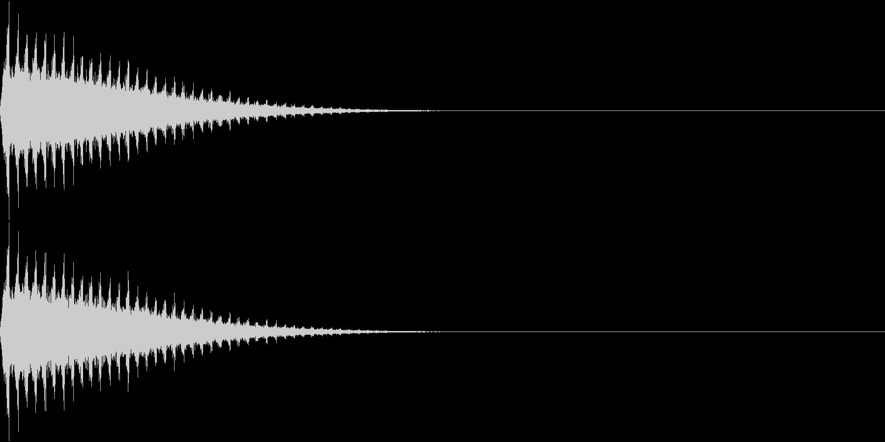 SFX 回転して去る飛行物体の音の未再生の波形