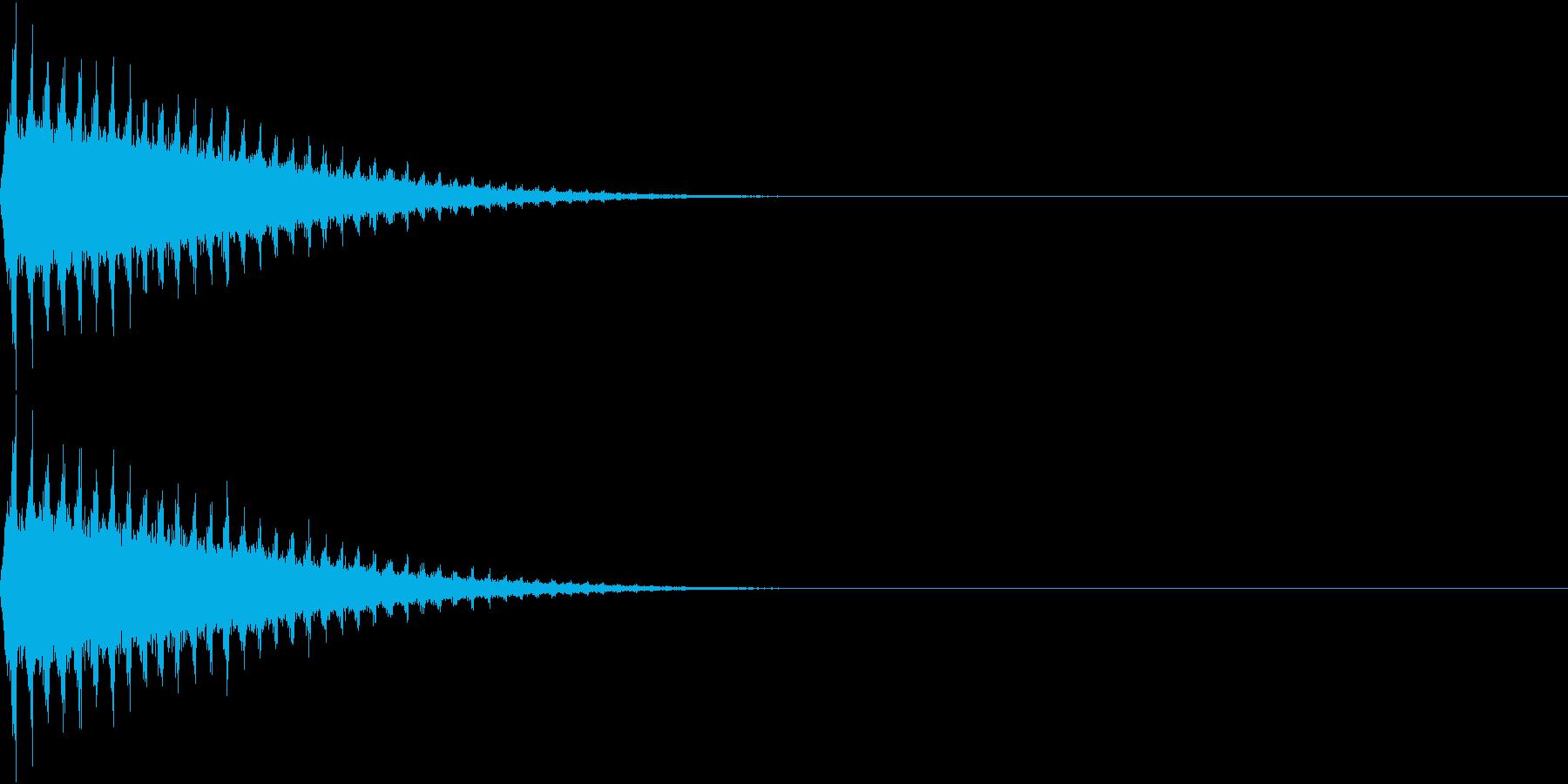 SFX 回転して去る飛行物体の音の再生済みの波形