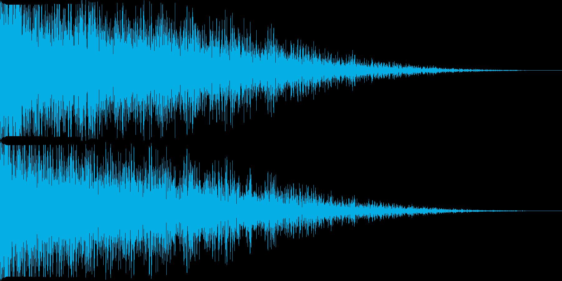 ジャン(エコー付)の再生済みの波形