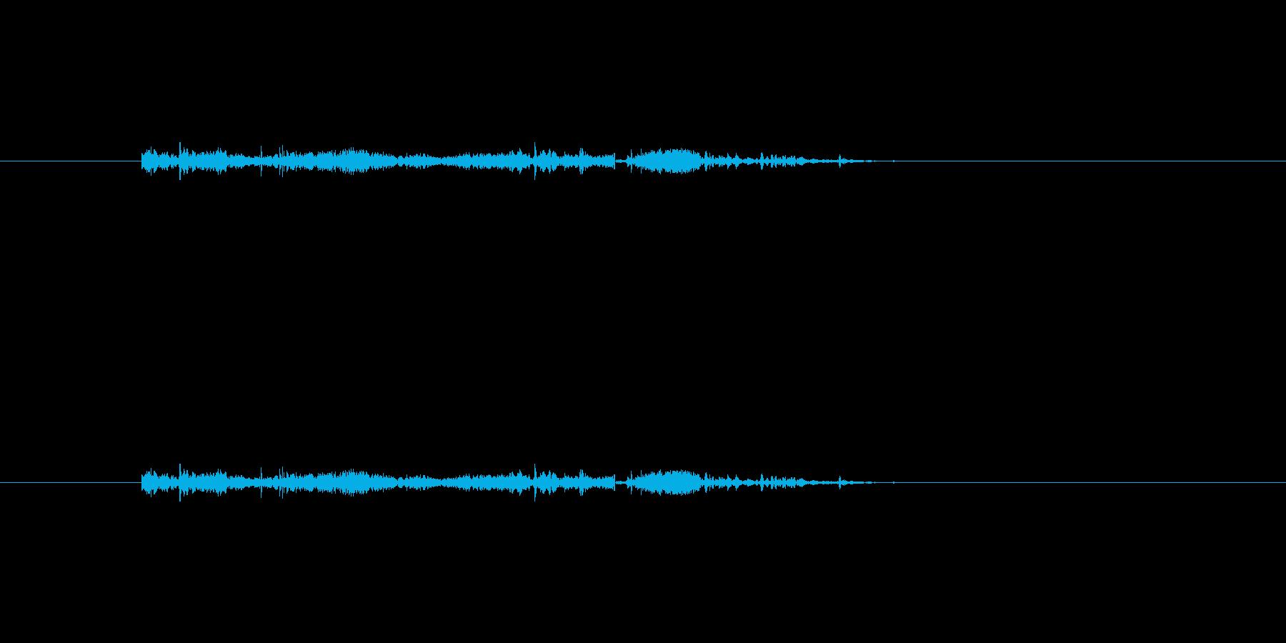 準備音の再生済みの波形
