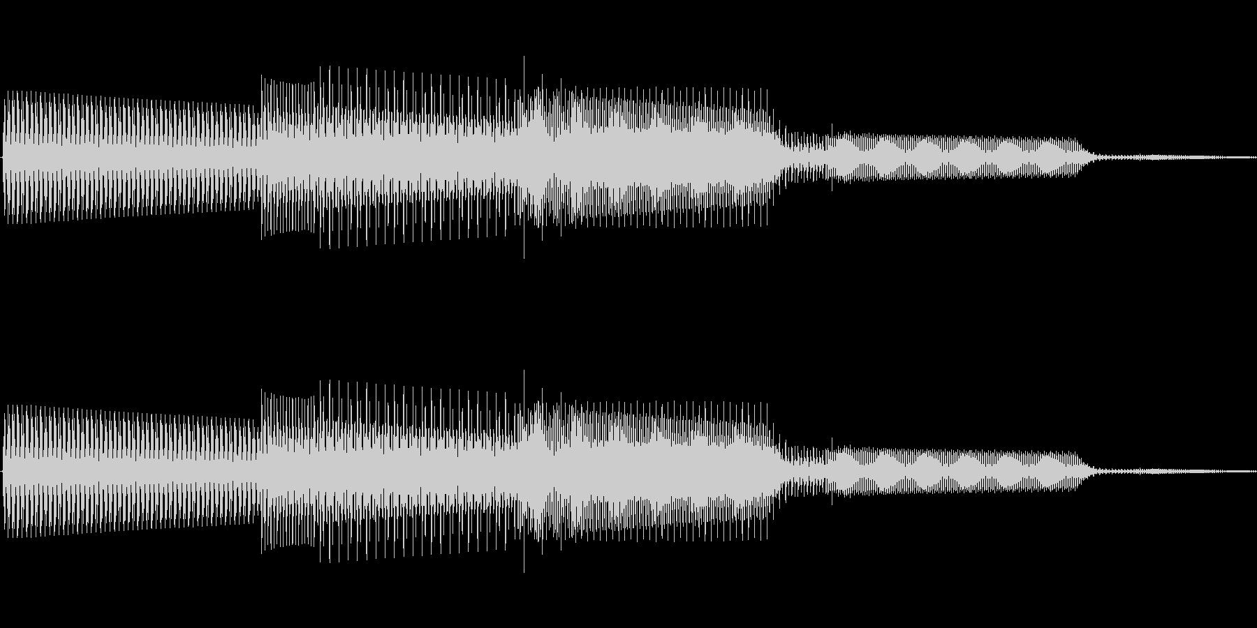 ボタン決定音システム選択タッチ登録B08の未再生の波形