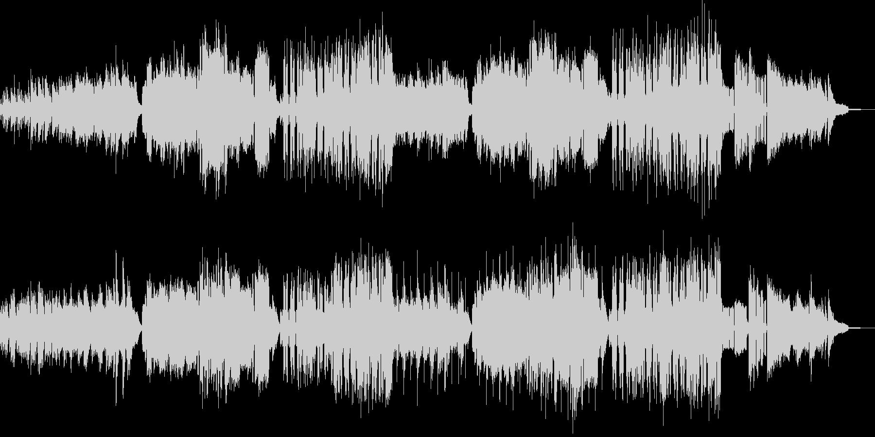 夕日が眩しい放課後の音楽授業イメージの未再生の波形