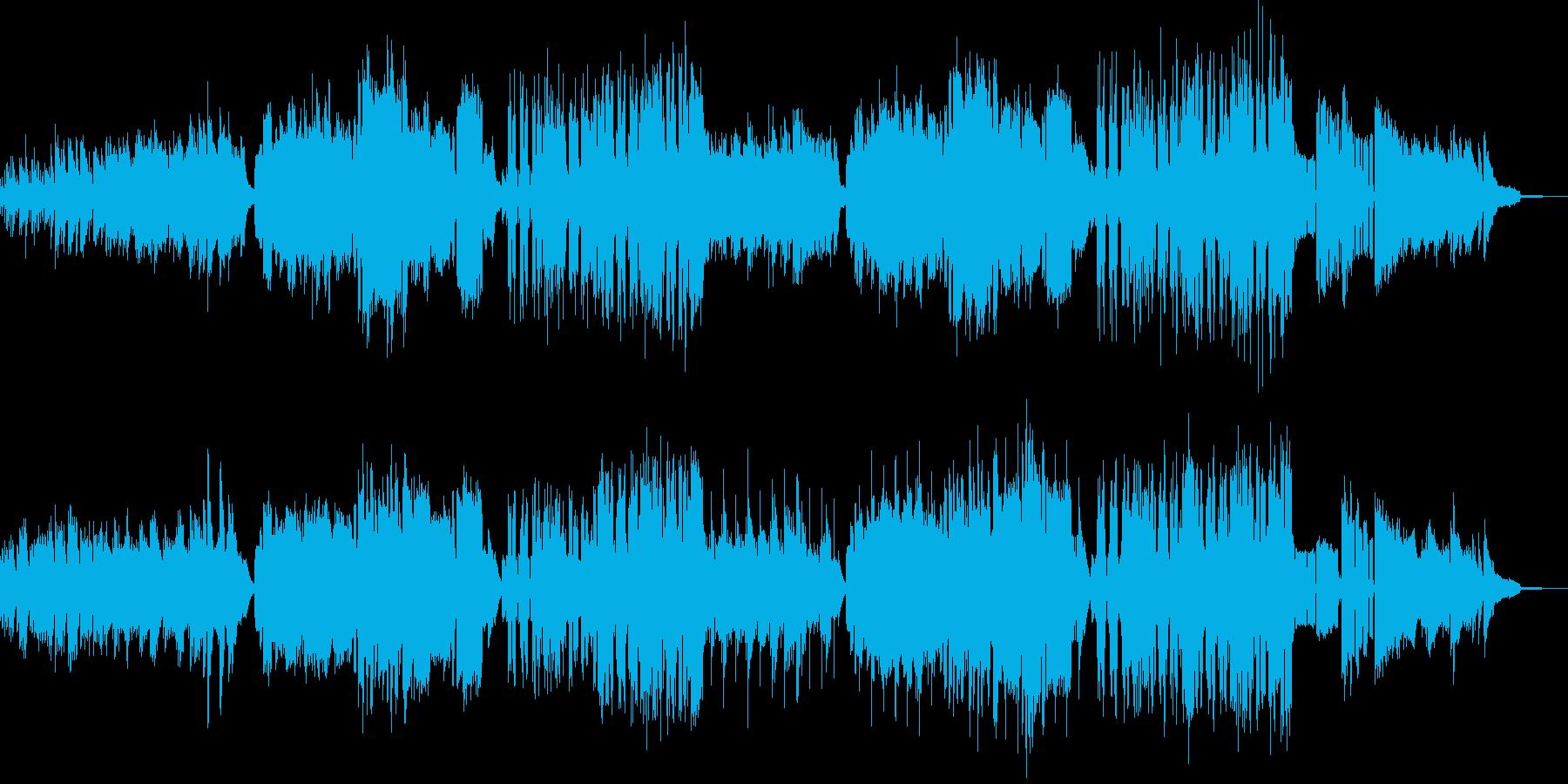 夕日が眩しい放課後の音楽授業イメージの再生済みの波形