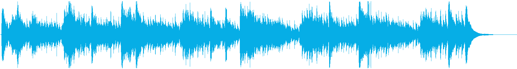 ゆったりと流れる癒しのアコギの再生済みの波形