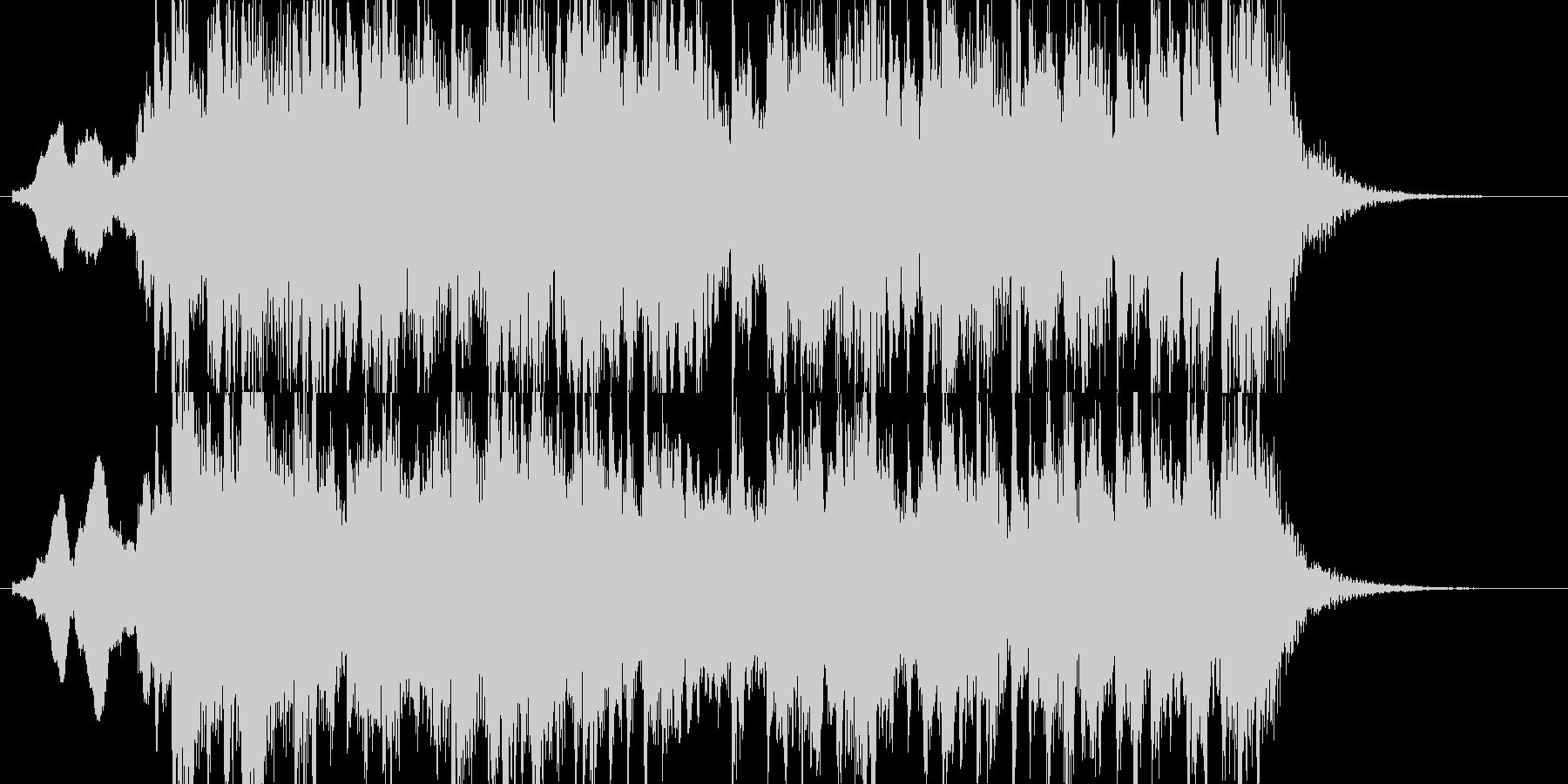 和風のジングルですの未再生の波形