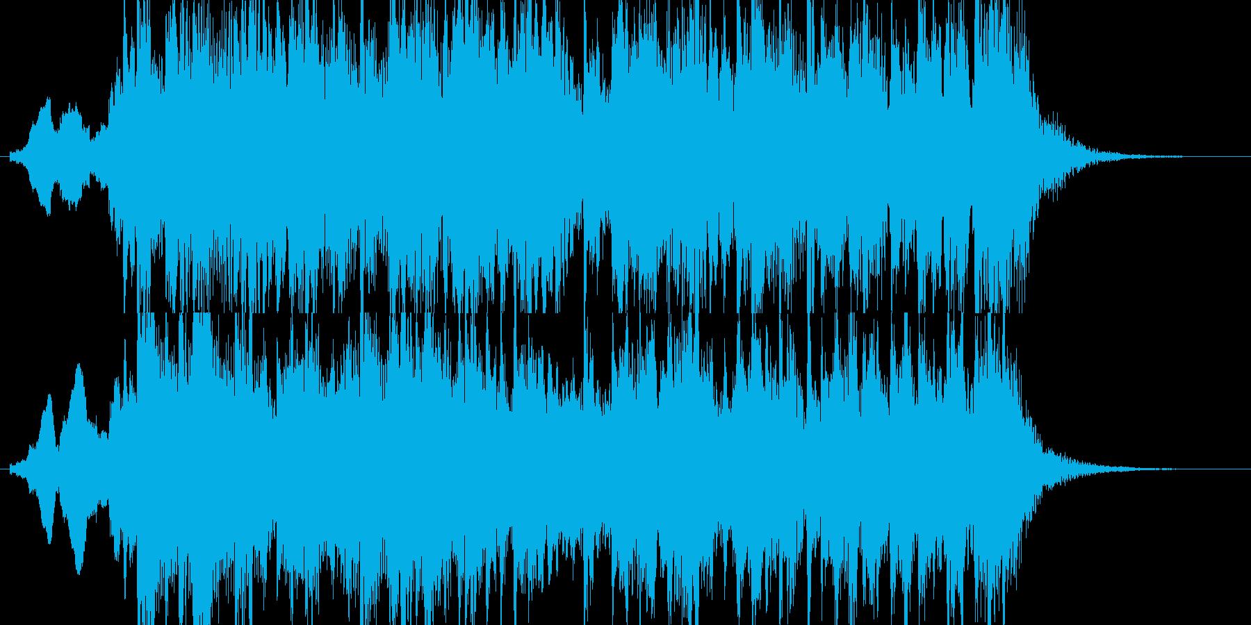 和風のジングルですの再生済みの波形