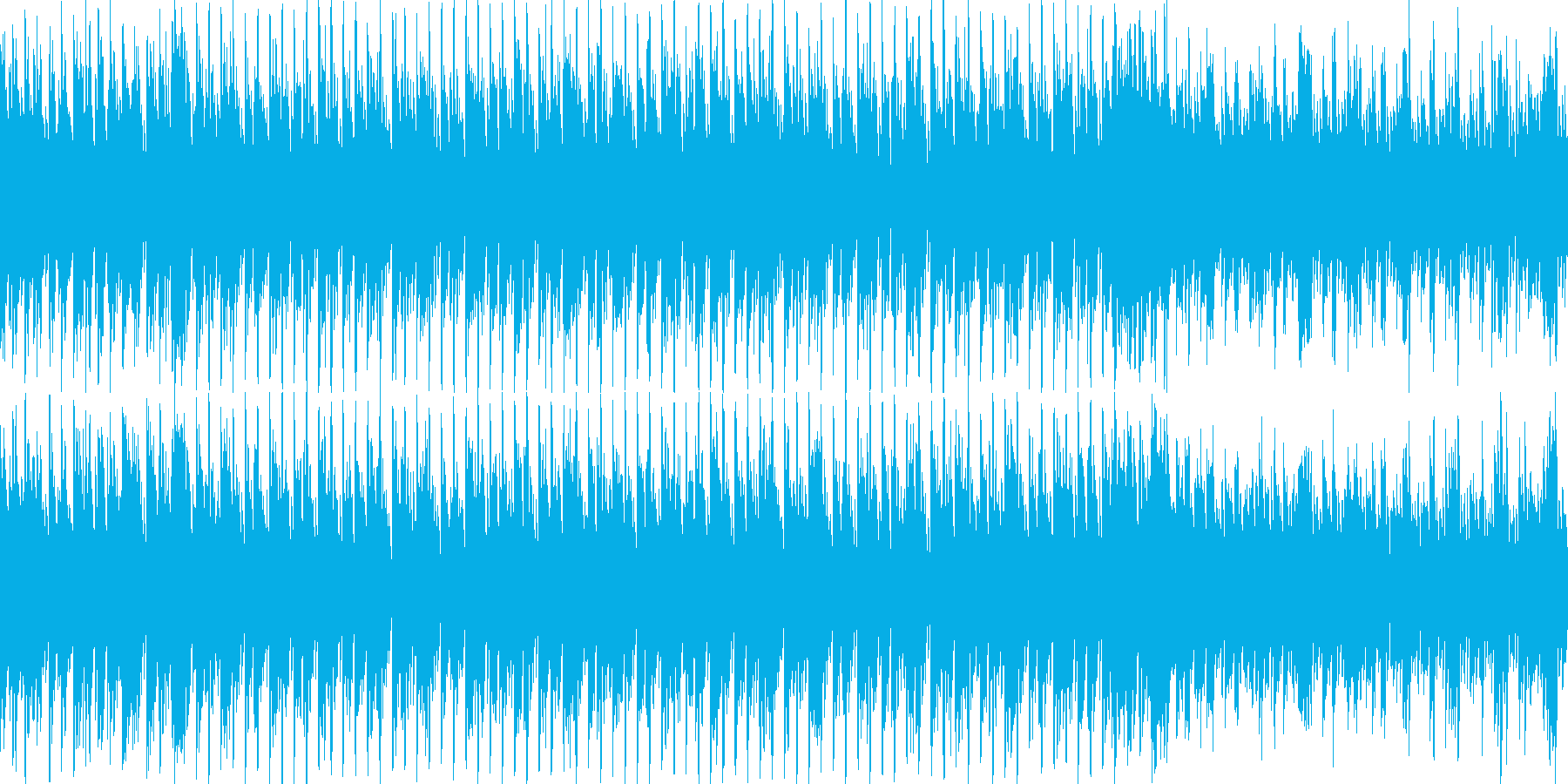 ダーク、シンプル、癖になるループ素材 の再生済みの波形