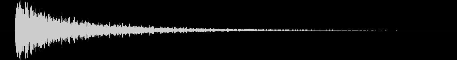 【スコーン】残響の効いたスネア 1の未再生の波形