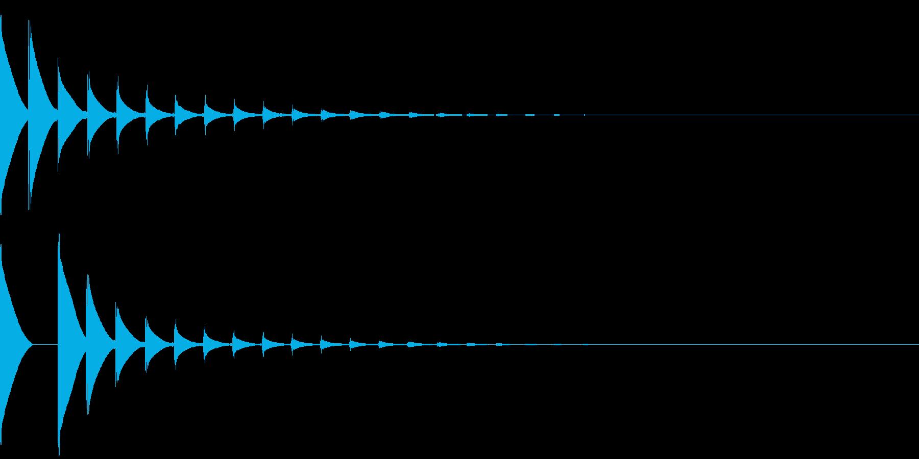 ポンポンポンポンポポ・・・の再生済みの波形