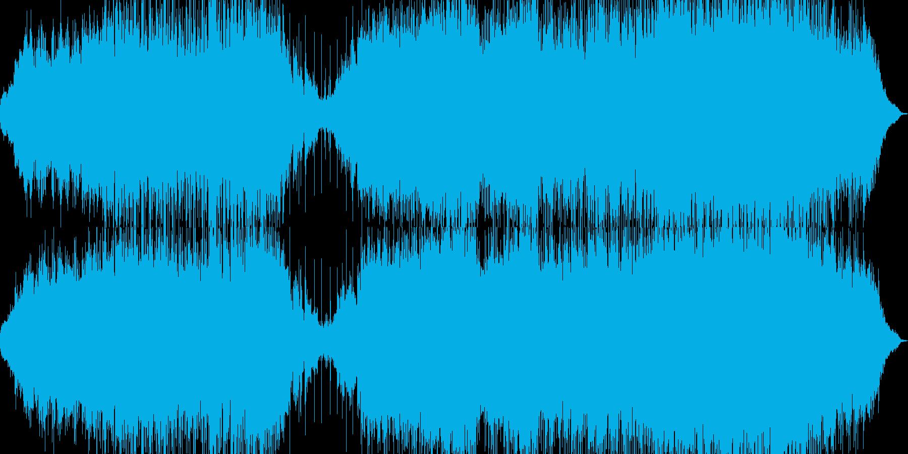 潮風、エメラルドの海、チルアウト系ハウスの再生済みの波形