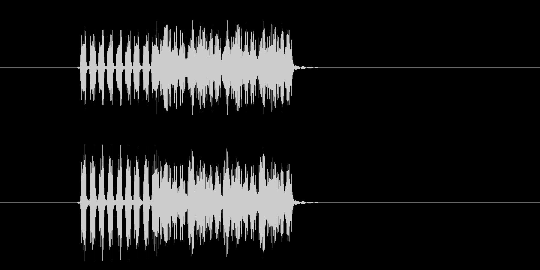 高速再生のドラムマシーンの未再生の波形