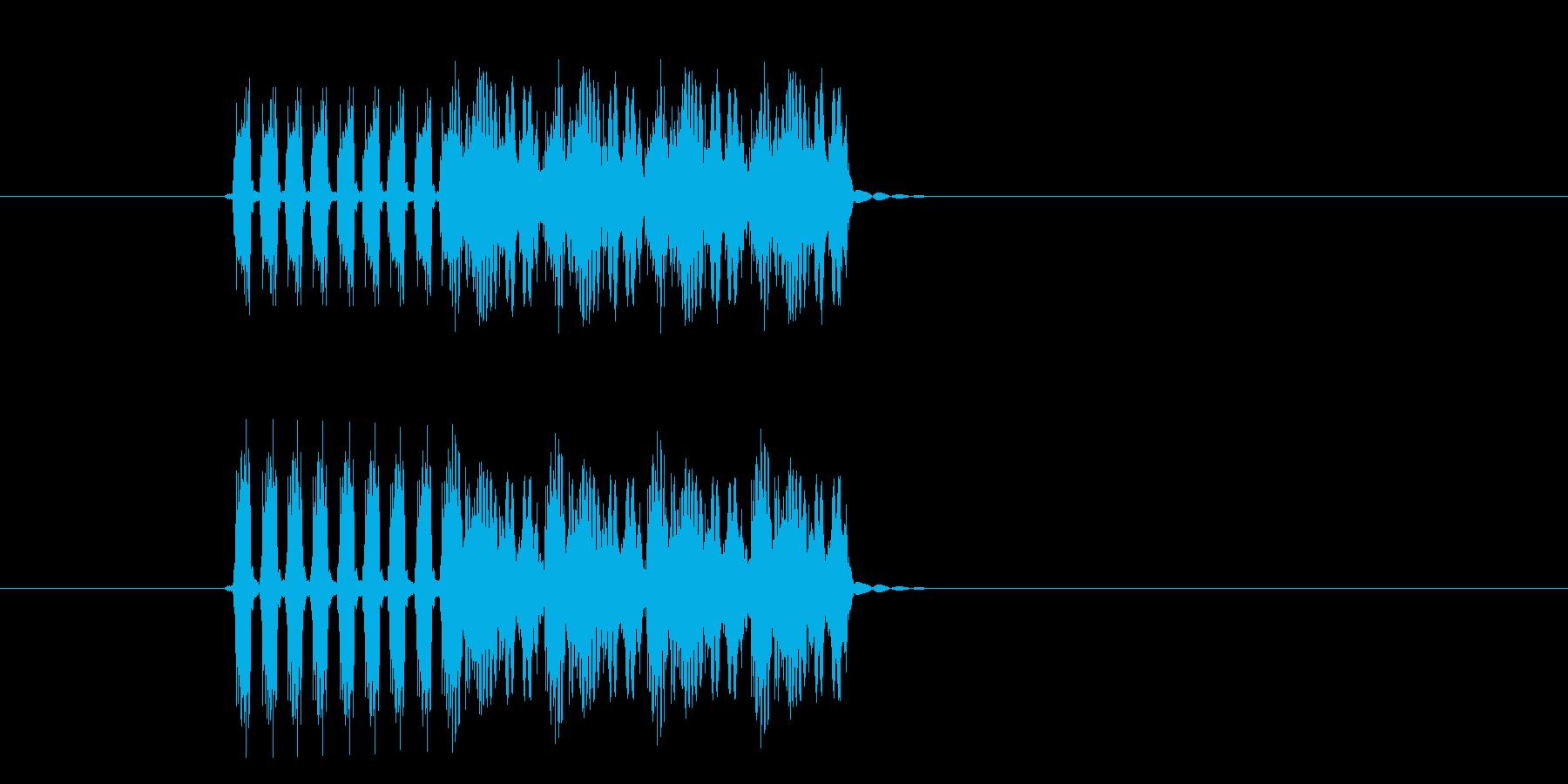 高速再生のドラムマシーンの再生済みの波形