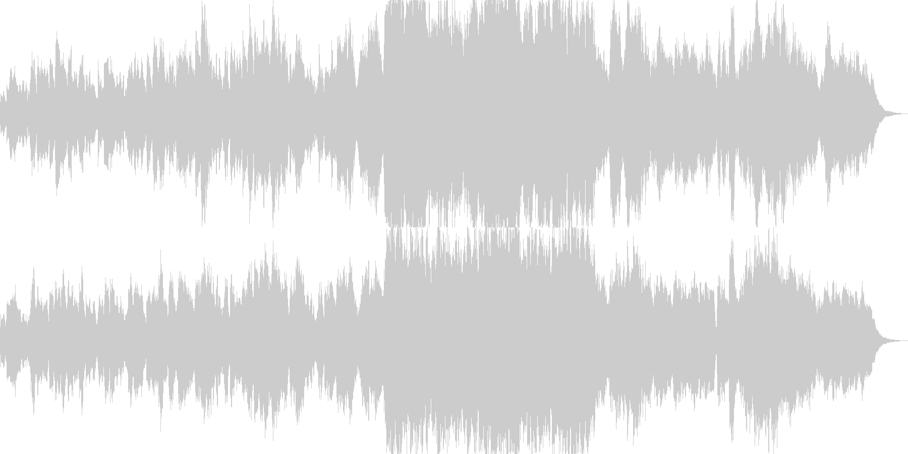 懐かしい感じのオーケストラ風BGMの未再生の波形