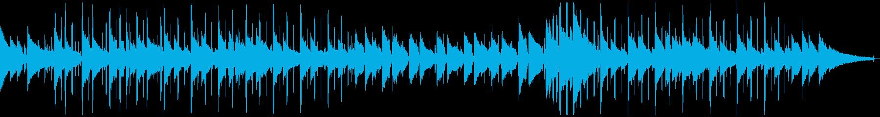 BGM 孤独感・静けさのある場面の再生済みの波形