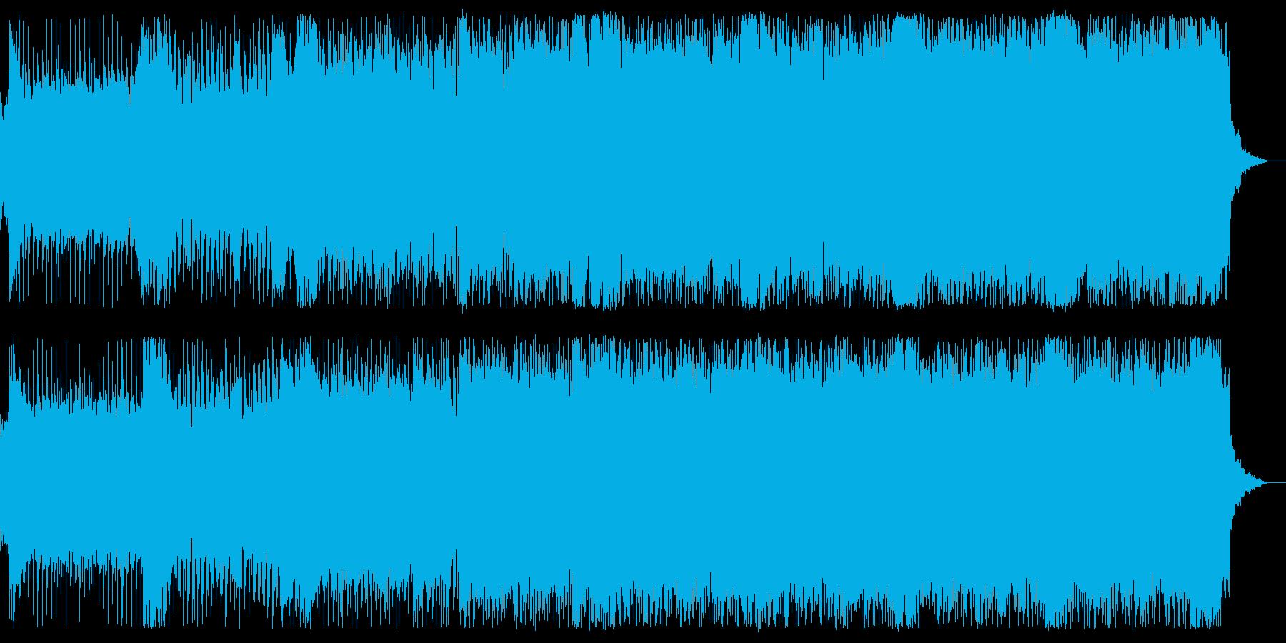 爽やかなストリングス&ギターロックの再生済みの波形