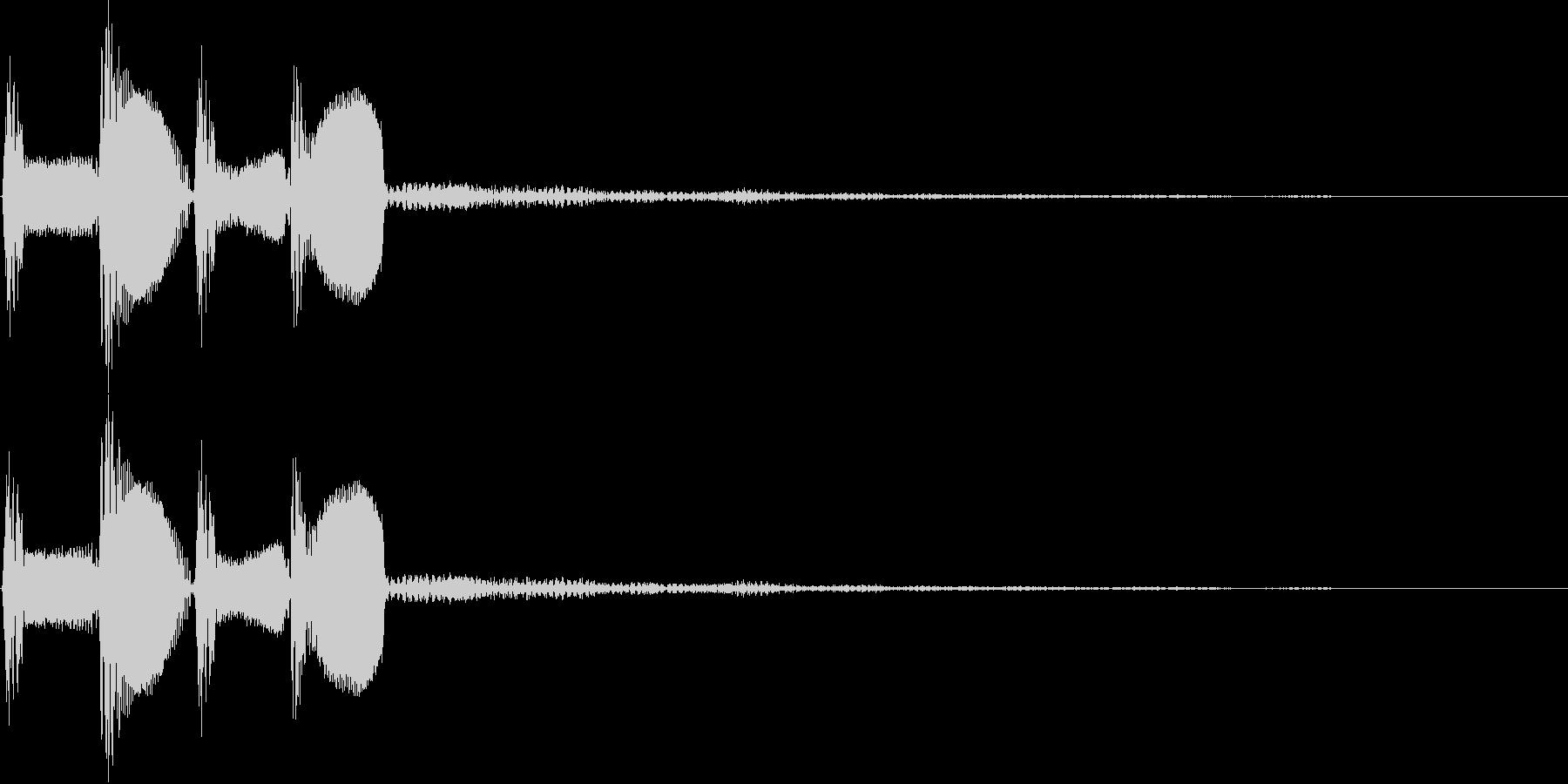 ピコピコ(決定、ボタン、移動、魔法)の未再生の波形