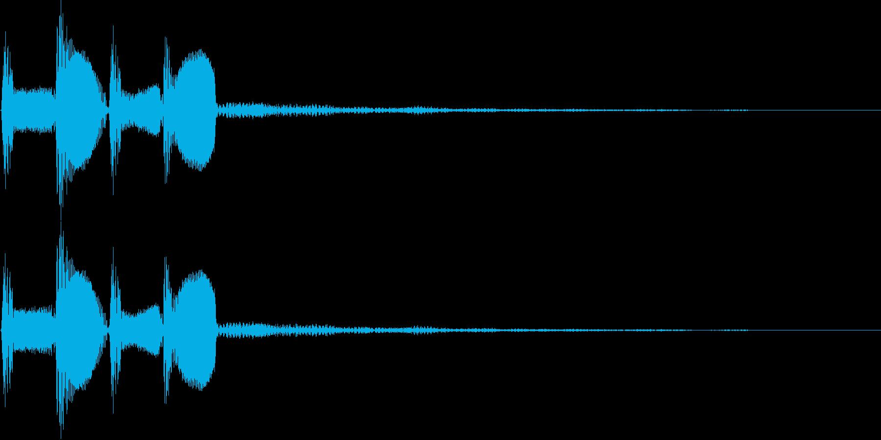 ピコピコ(決定、ボタン、移動、魔法)の再生済みの波形