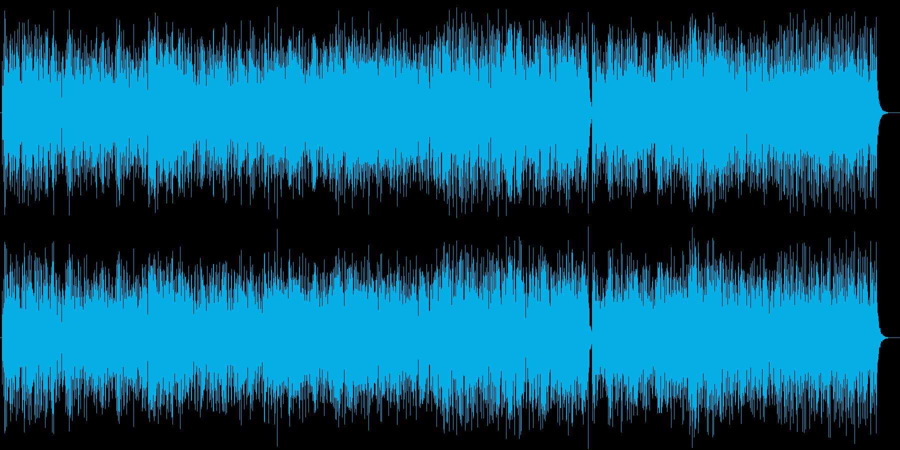 明るいトロピカルラテン系ピアノサウンドの再生済みの波形