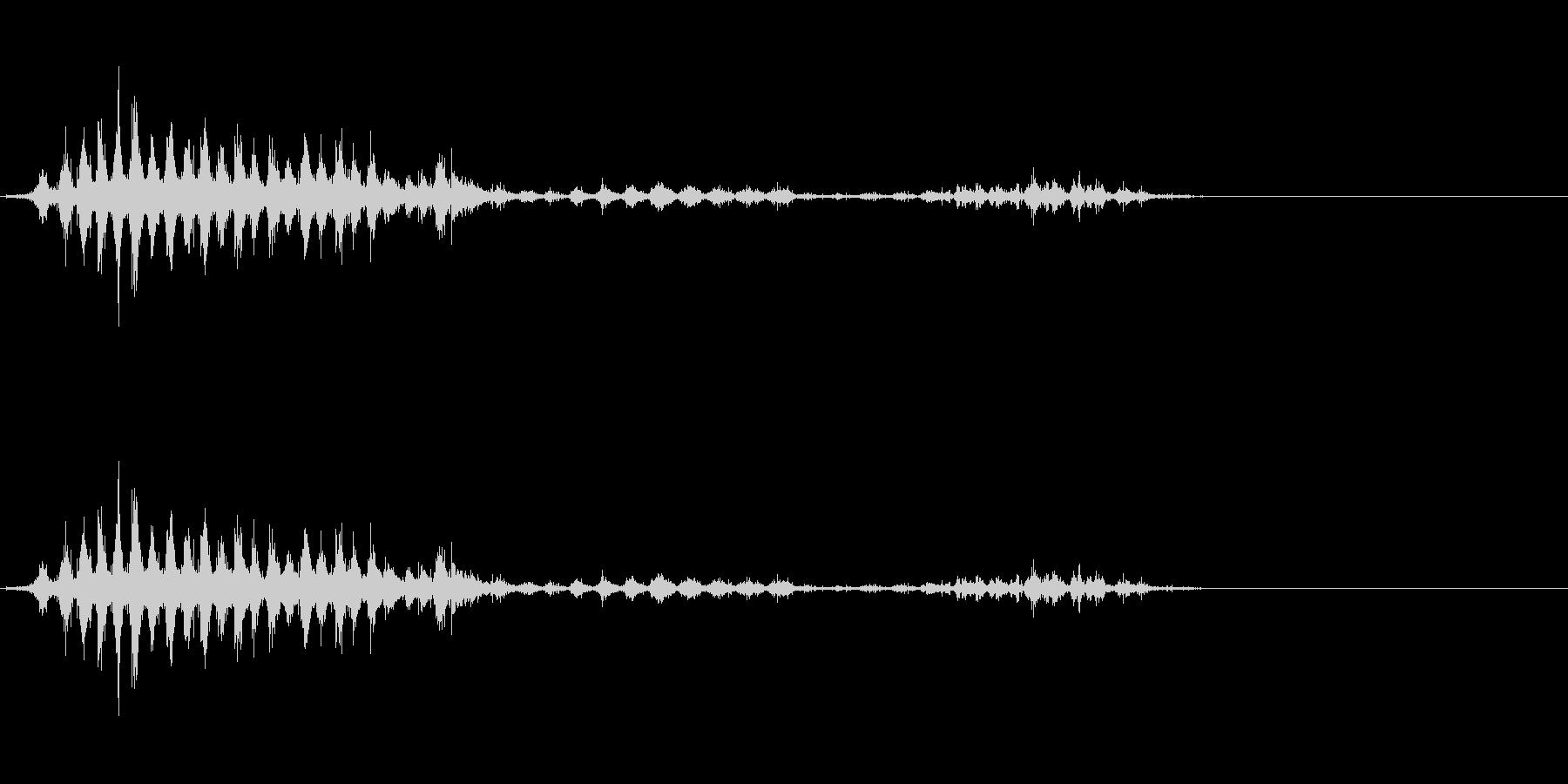 「シャシャシャ」木製シェイカー振り音FXの未再生の波形