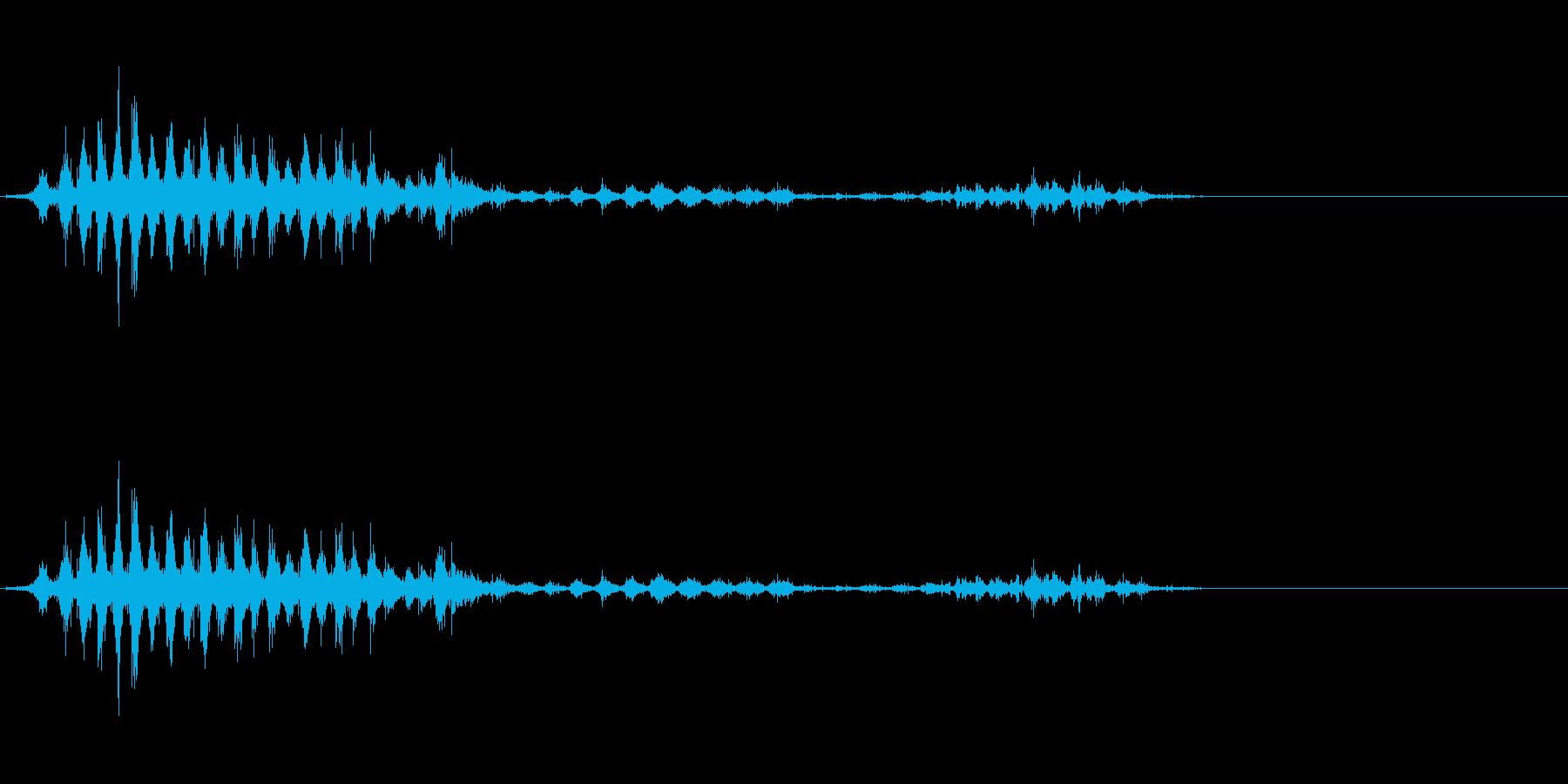 「シャシャシャ」木製シェイカー振り音FXの再生済みの波形