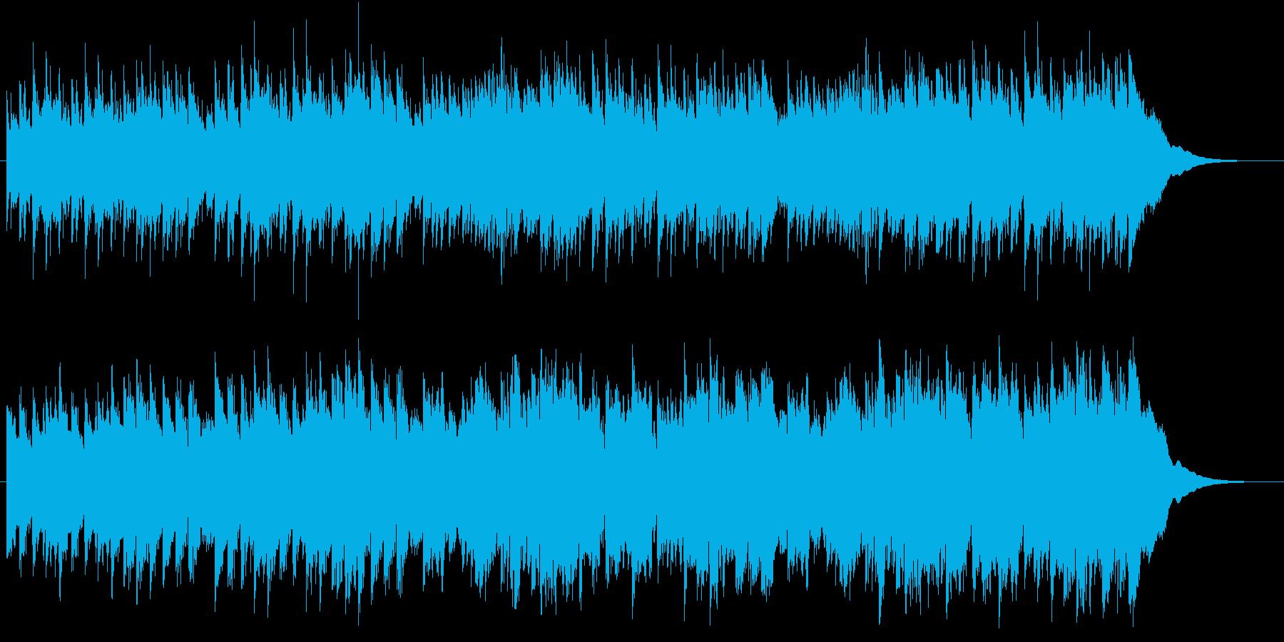 ほのぼのとしたヒーリングBGMの再生済みの波形