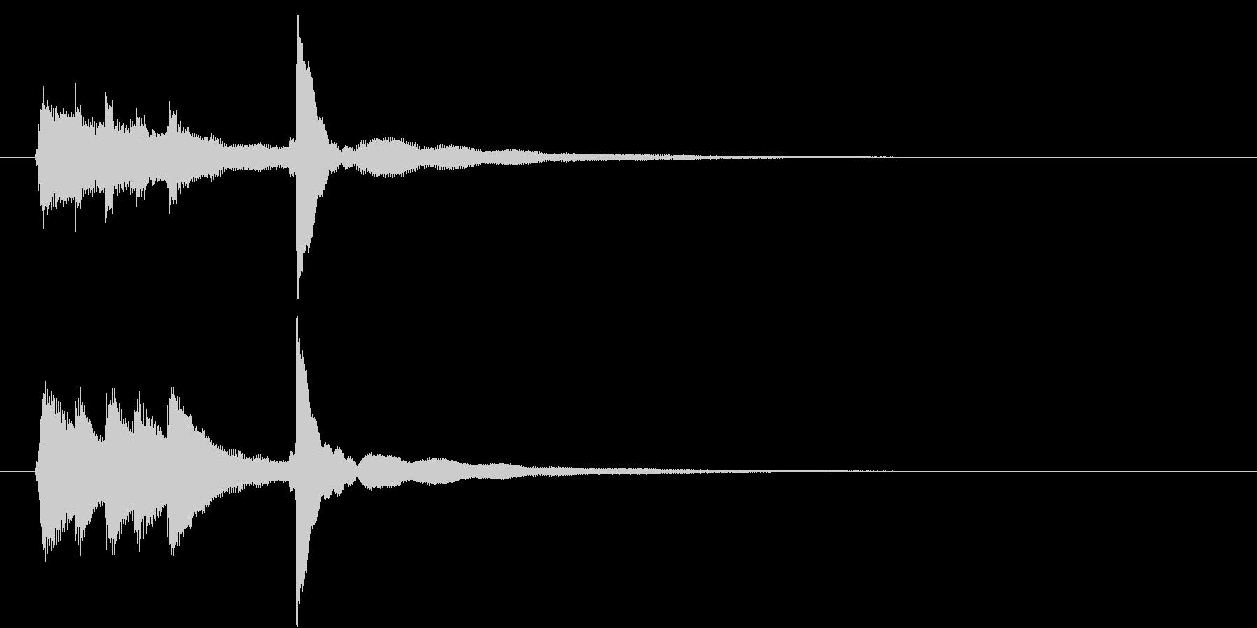 爽やかでシンプルなピアノ音のロゴ の未再生の波形