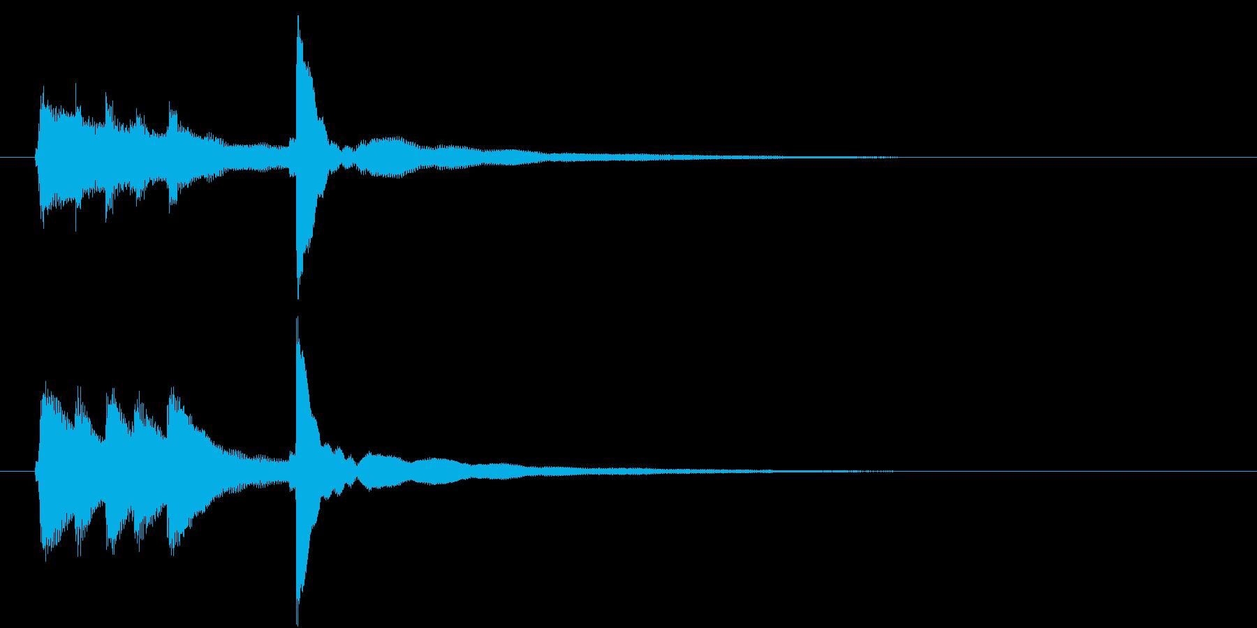 爽やかでシンプルなピアノ音のロゴ の再生済みの波形