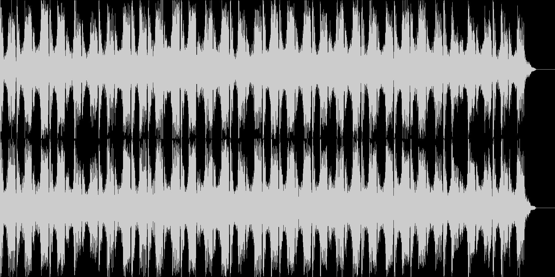 テクノテイストBGMの未再生の波形