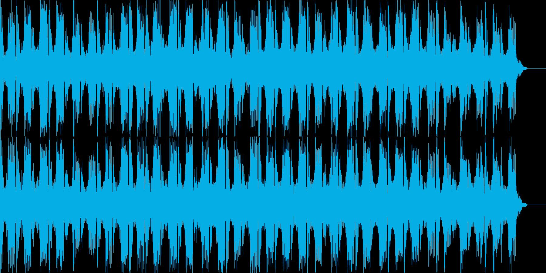 テクノテイストBGMの再生済みの波形