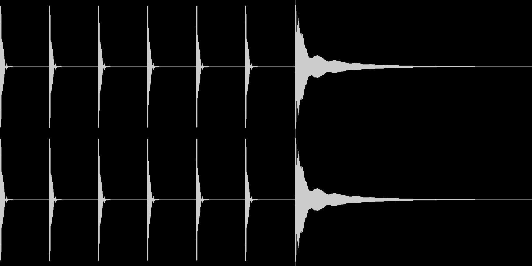 【生録音】ポクポクポク・チーン(早め)の未再生の波形