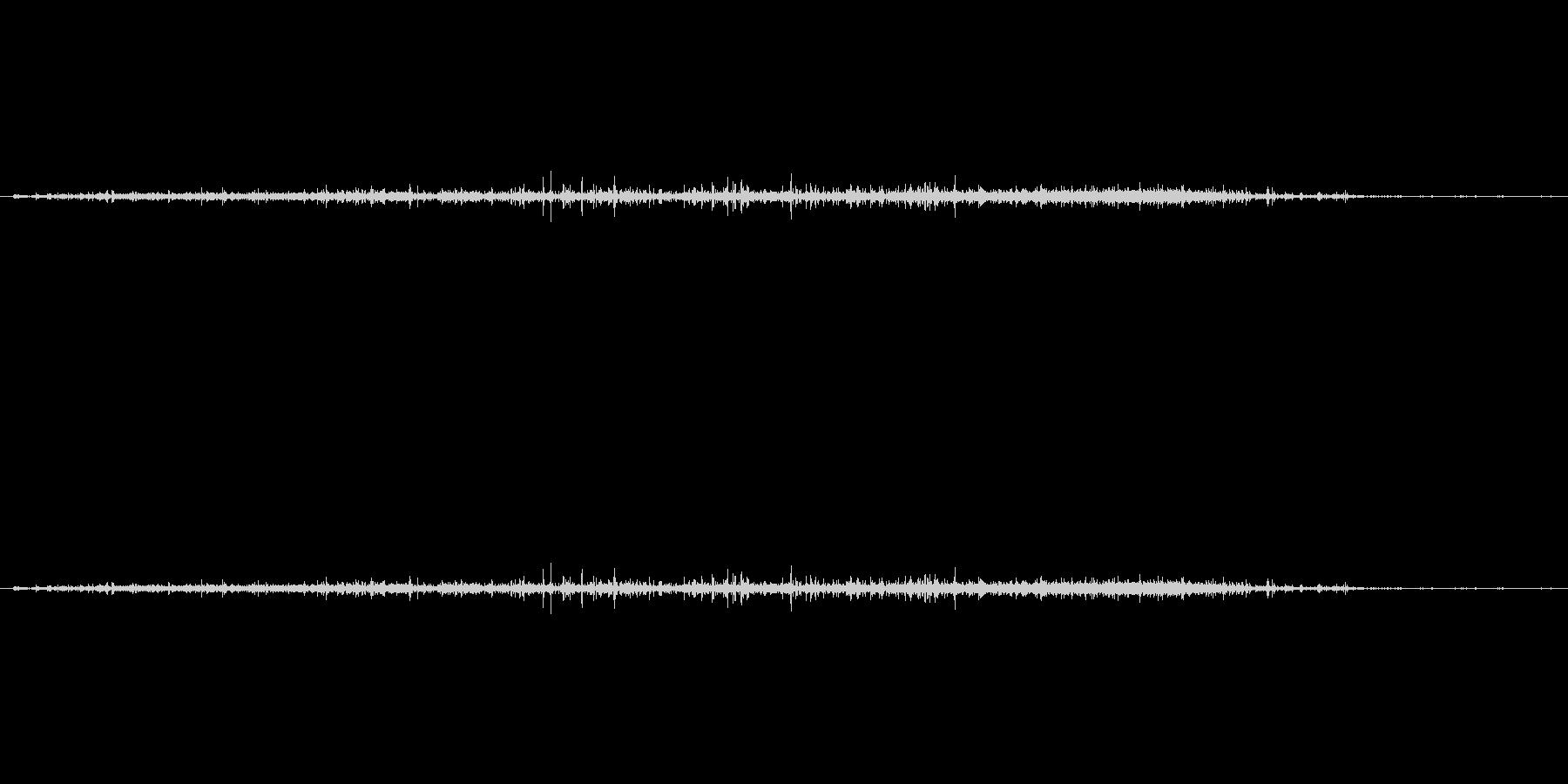 【生音】ザー(さらさら)粒が落下流れる音の未再生の波形