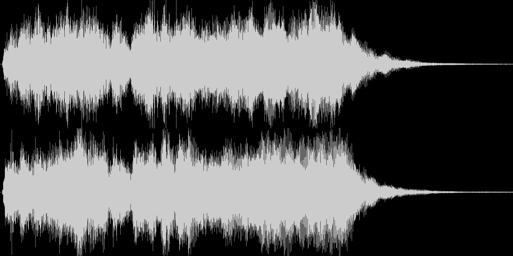 オーケストラによる豪華なジングルの未再生の波形