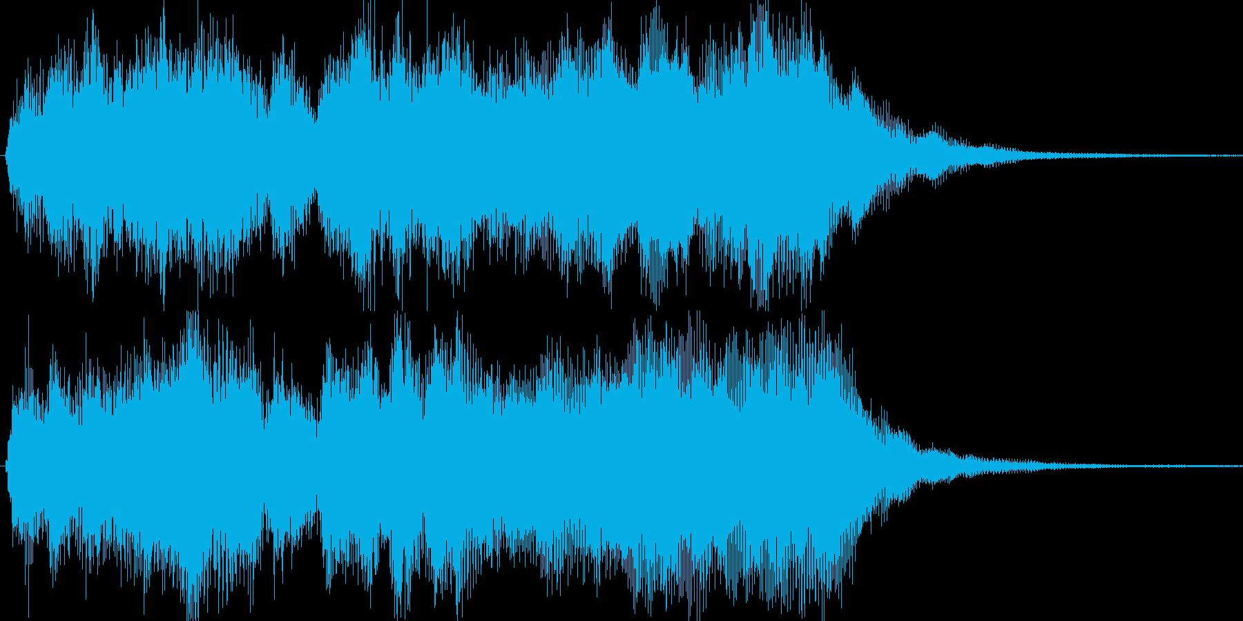 オーケストラによる豪華なジングルの再生済みの波形