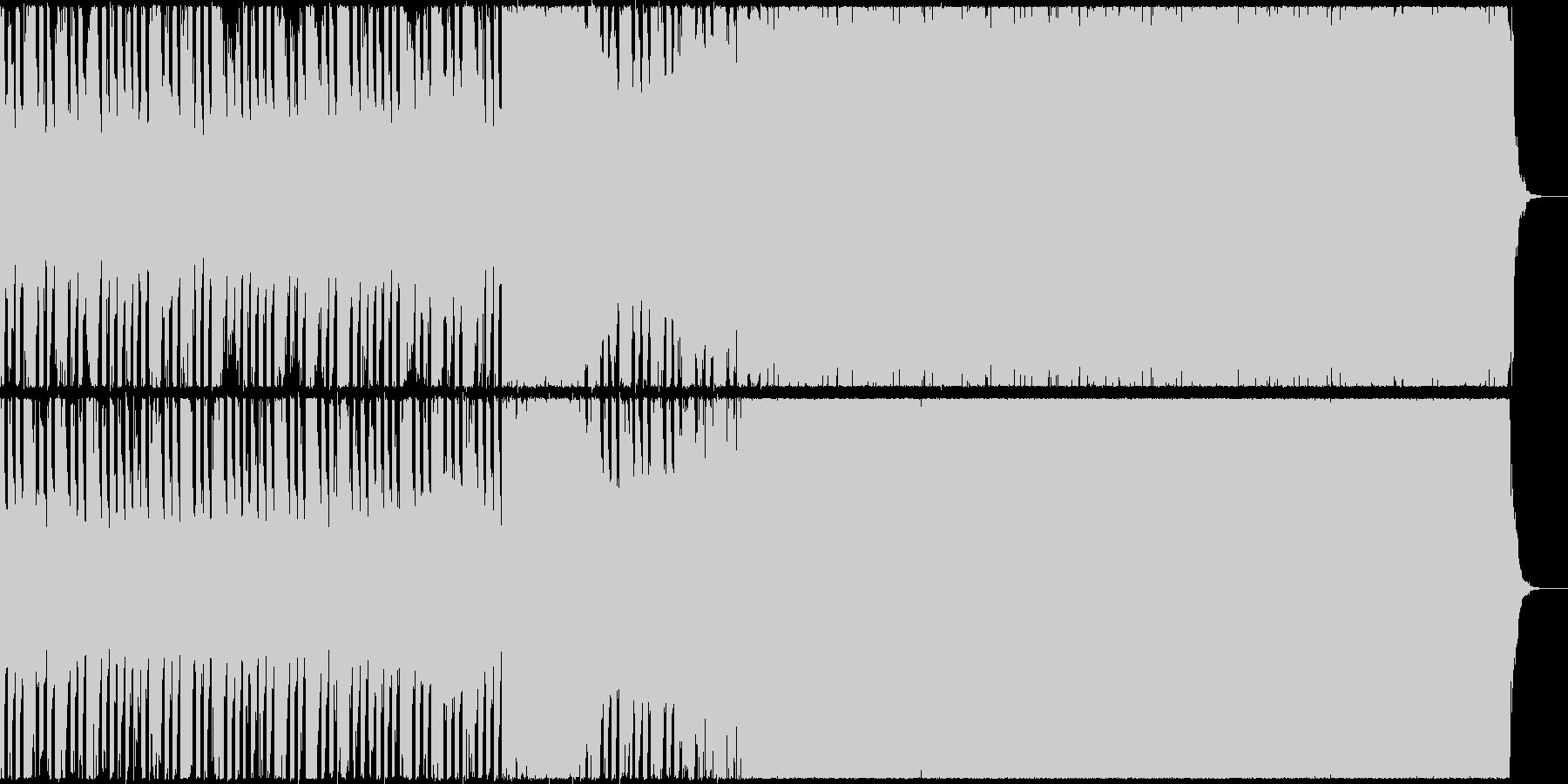 シンプルなダンス・ミュージック(EDM)の未再生の波形