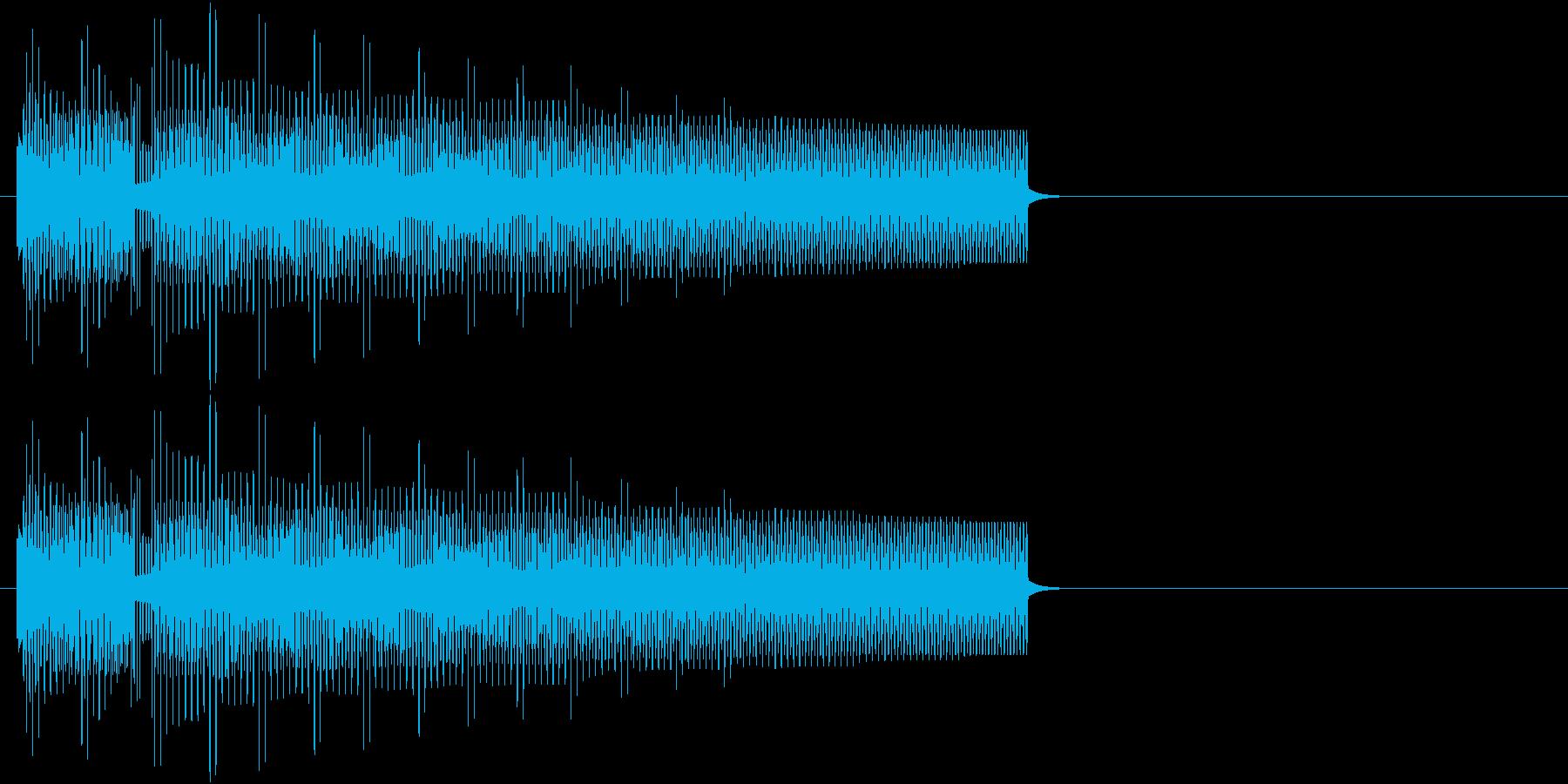 8bitでブブー!ハズレの音の再生済みの波形