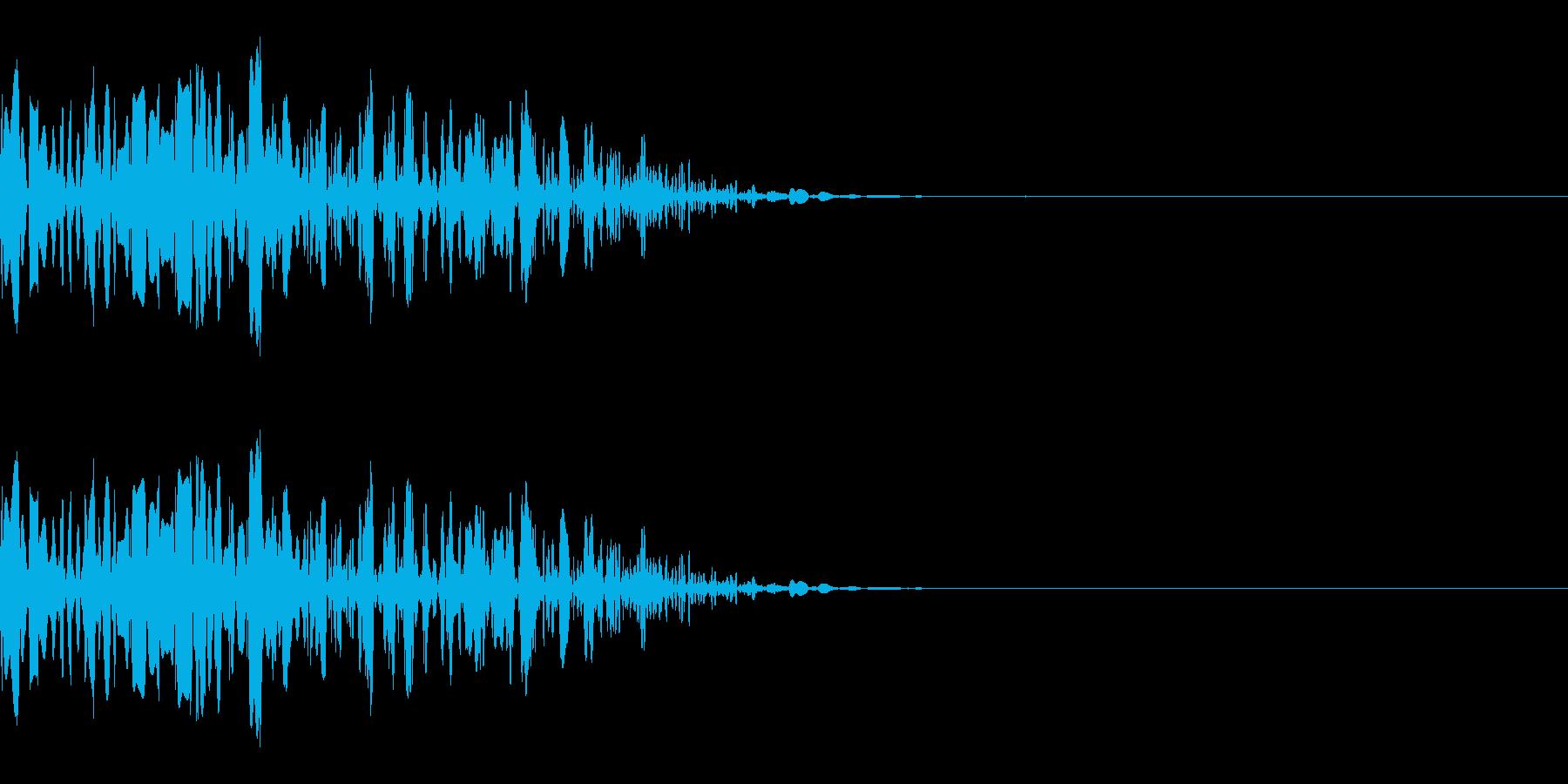 ドッ(殴る/小攻撃/格闘)の再生済みの波形