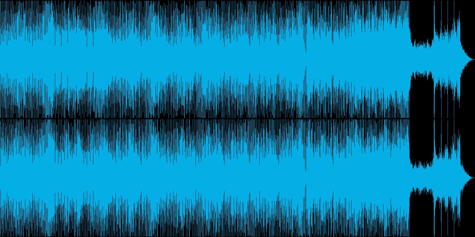 ビートに乗せて風情を感じるような曲の再生済みの波形