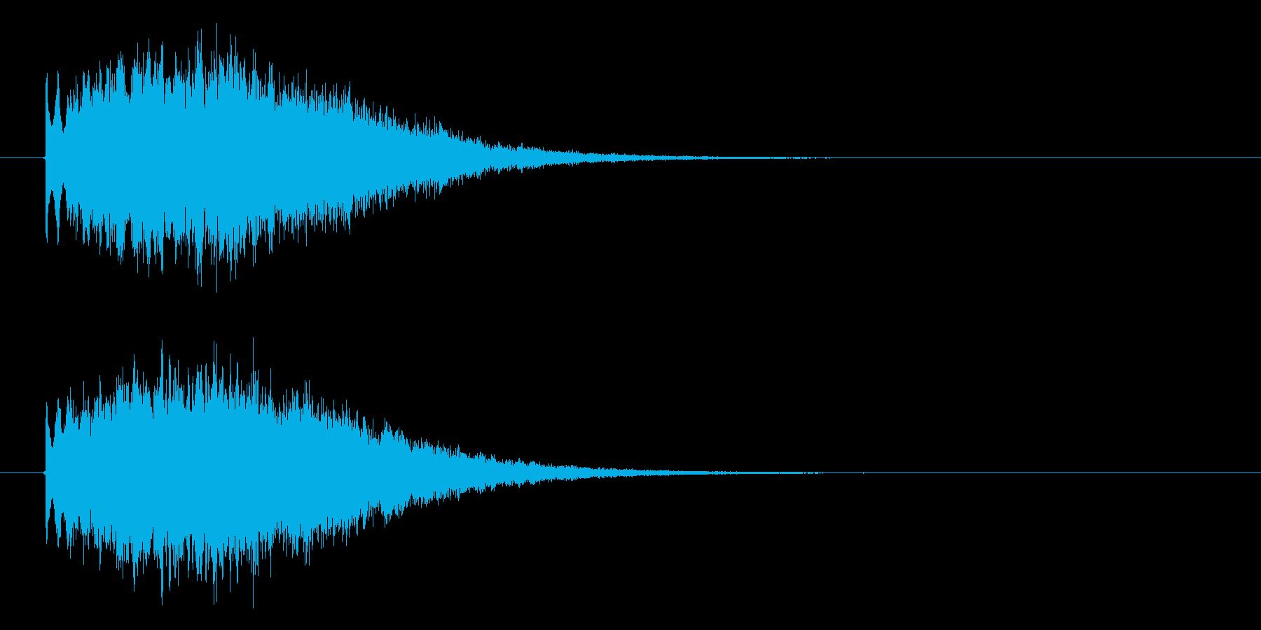 幻想的なキラキラの再生済みの波形