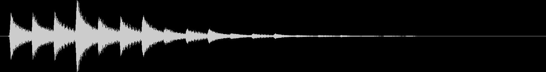 タララン↑(決定音、セーブ、記録)の未再生の波形
