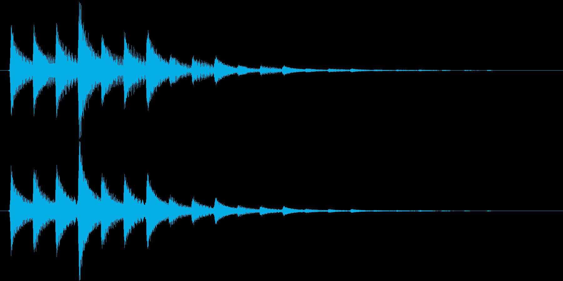 タララン↑(決定音、セーブ、記録)の再生済みの波形