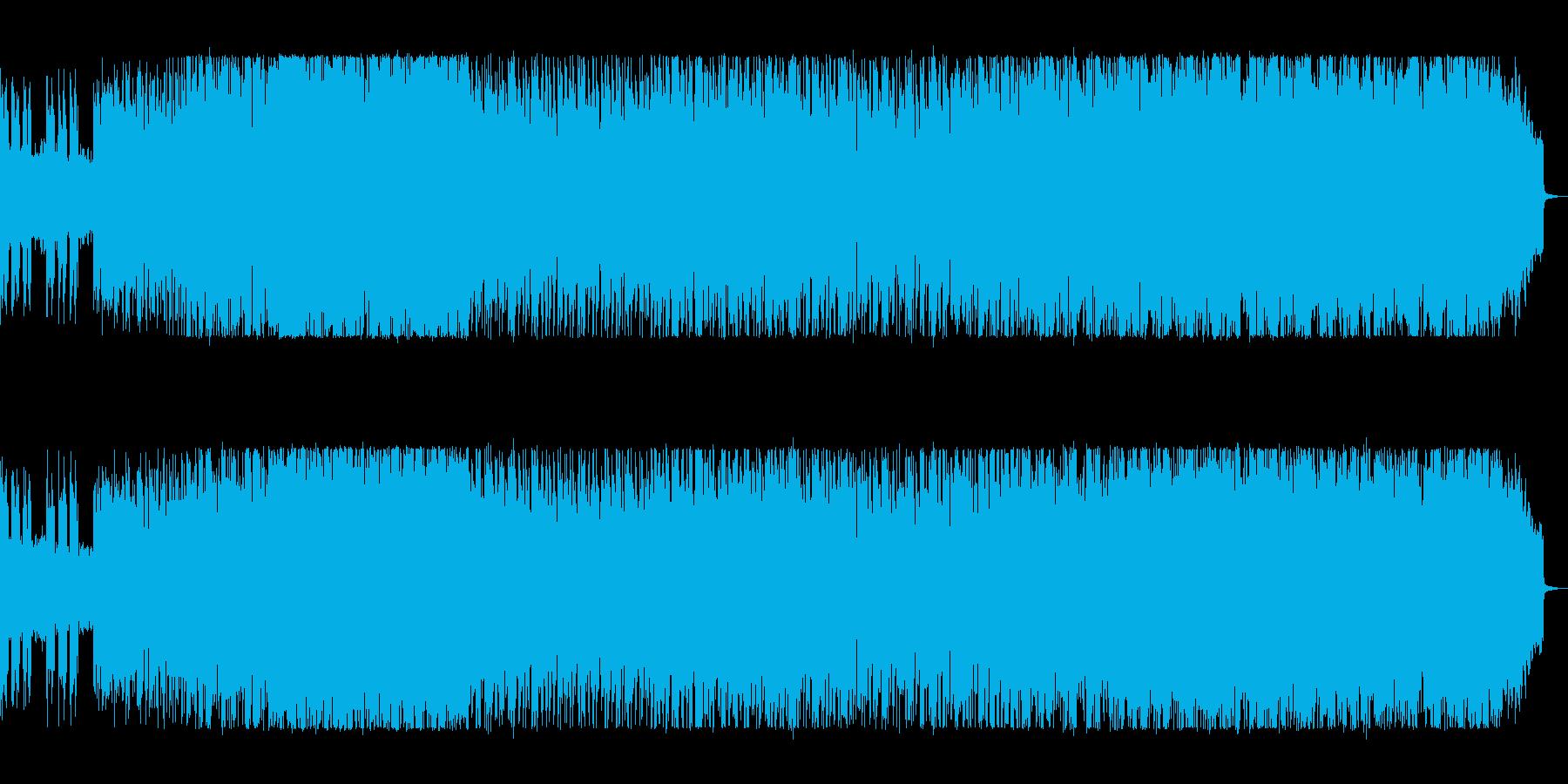 躍動感あふれるEDMの再生済みの波形