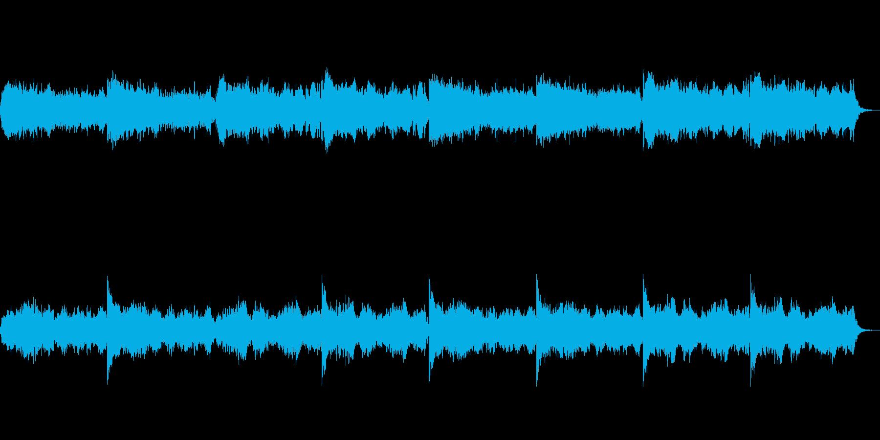 アルトフルートを使ったホラーな音楽の再生済みの波形