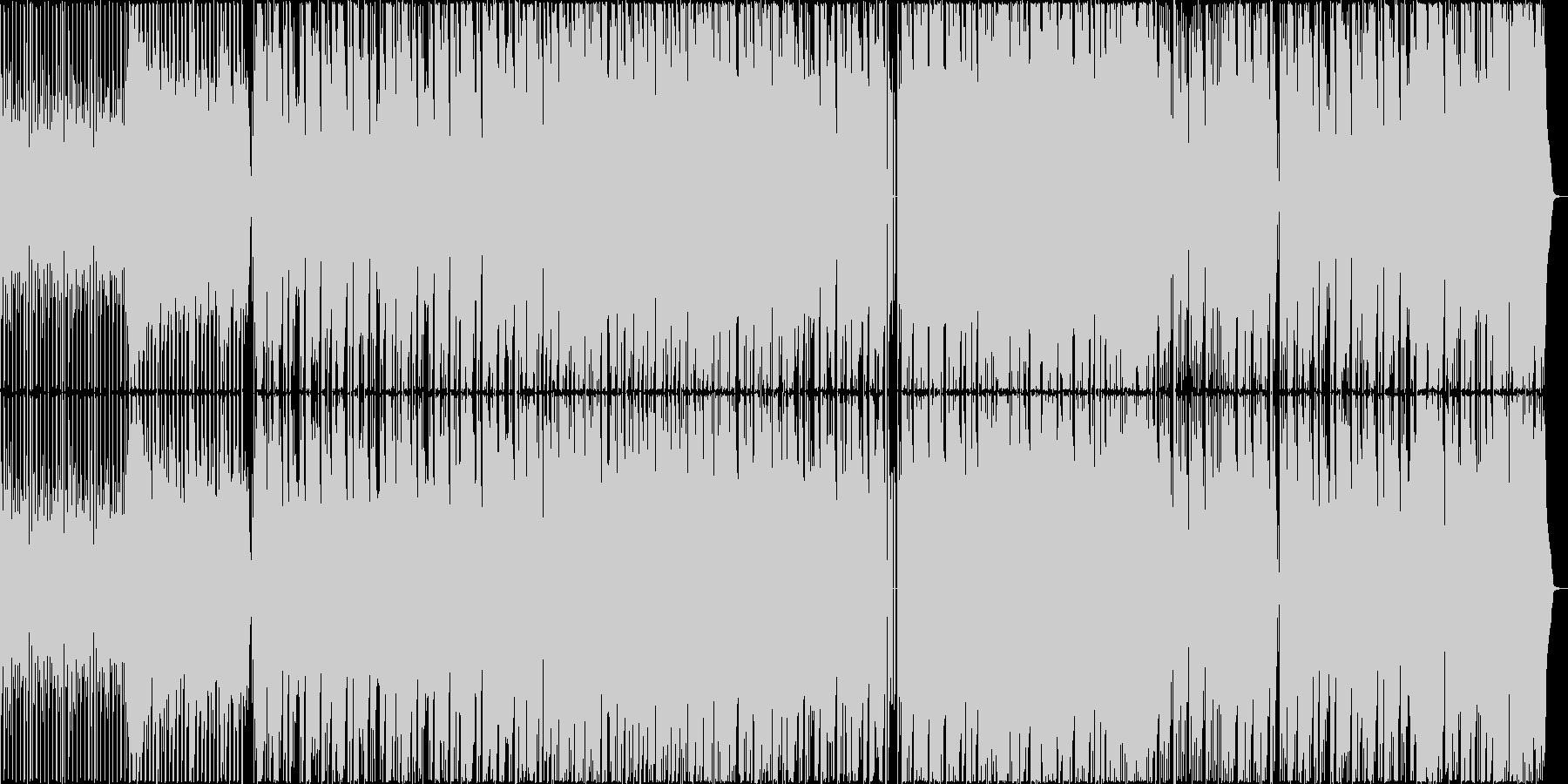 生楽器を使用した疾走感のあるBGMの未再生の波形