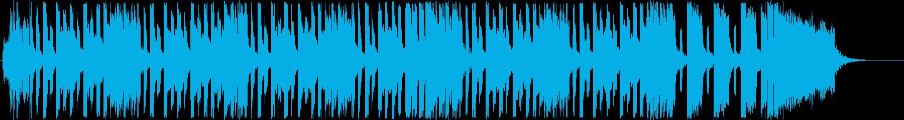 ポップなメロディーのエレキギターの音の再生済みの波形