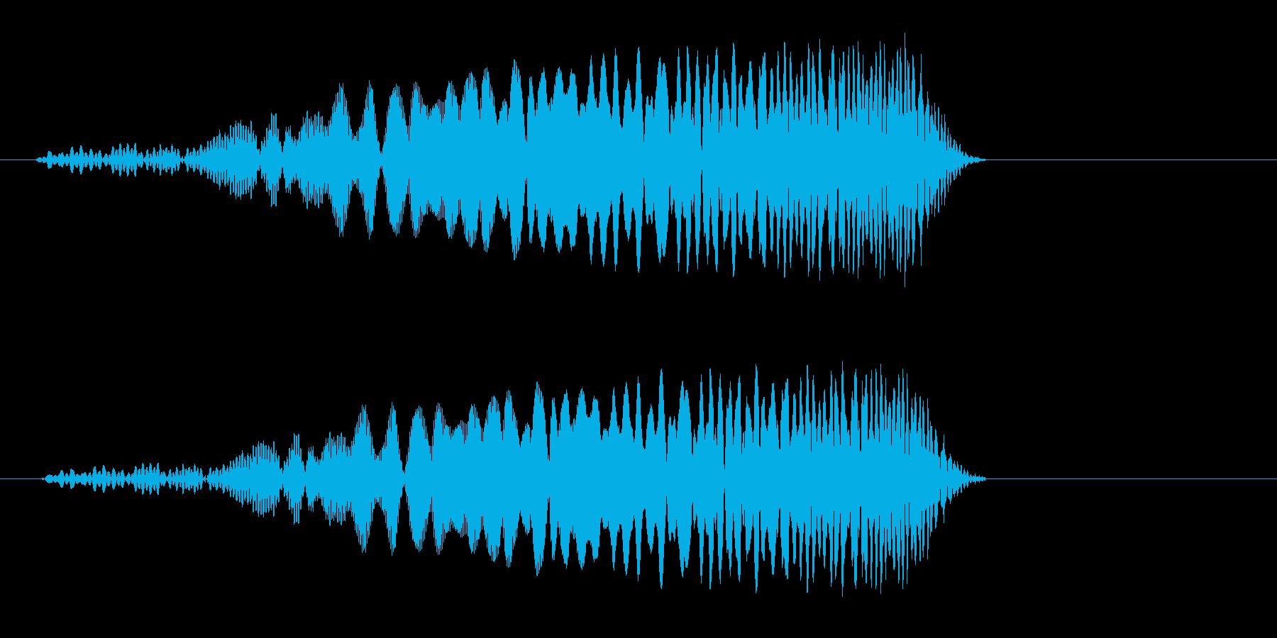 プロン(POPな場面が変わるような音)の再生済みの波形