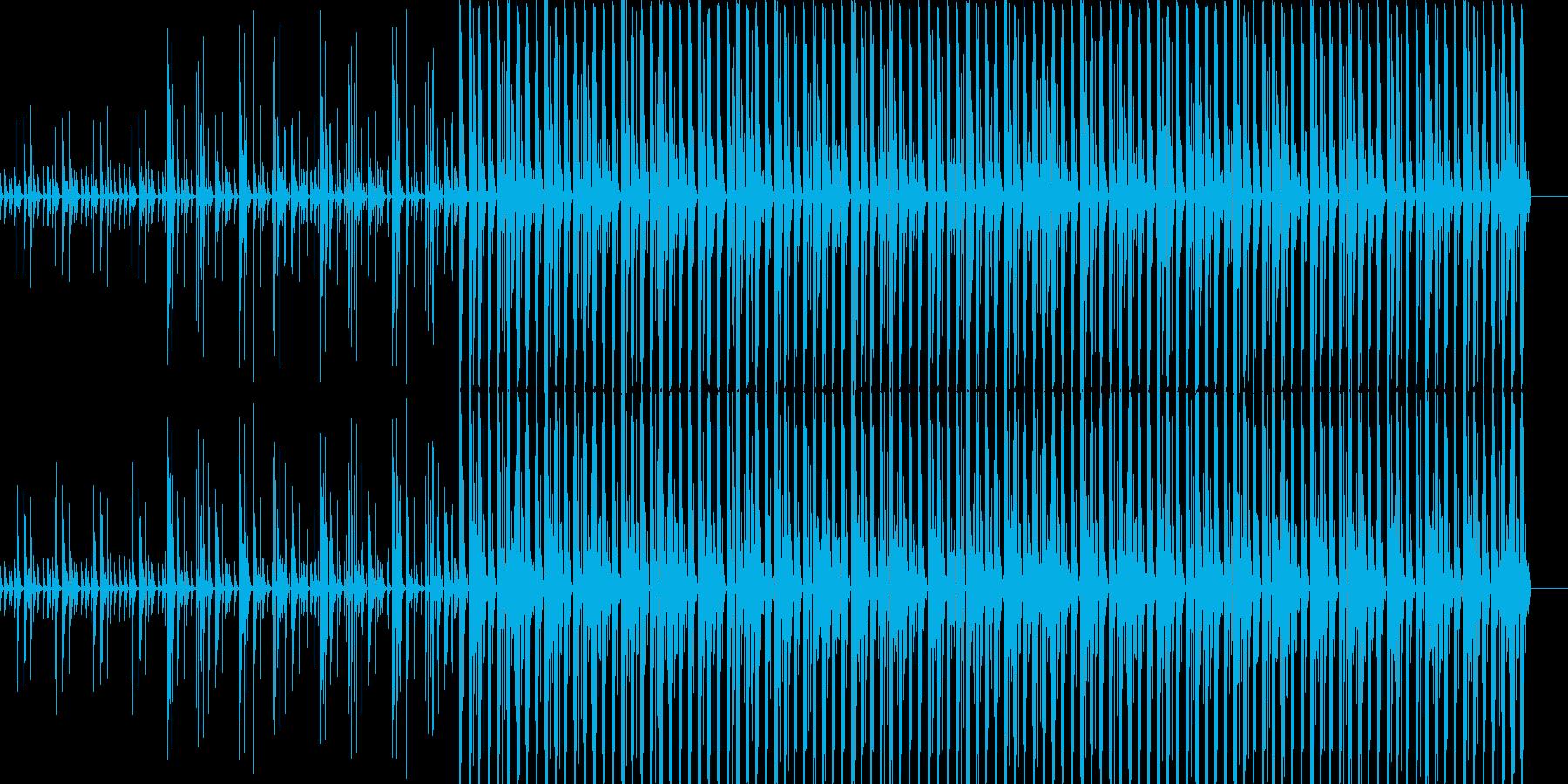 よくわからない気持ちになるミニマルテクノの再生済みの波形